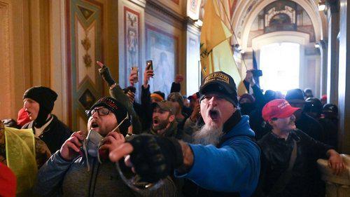 Demonstranten im Kapitol