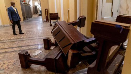 Zerstörung im Kapitol
