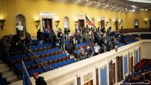 Demostranten im Kapitol